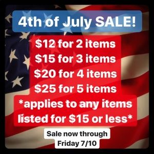 4th of July SALE!!! Now through 7/10 extended